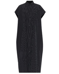 條紋棉質府綢襯衫裙