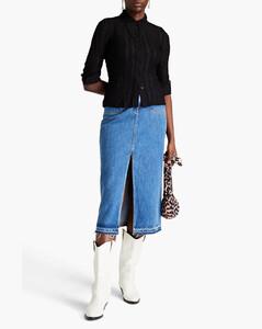 Lumière羽毛边饰直筒裤