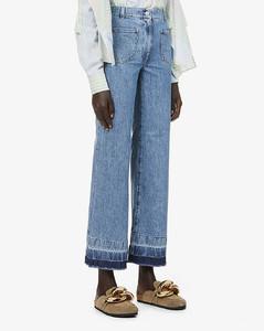 Wide-leg high-rise jeans