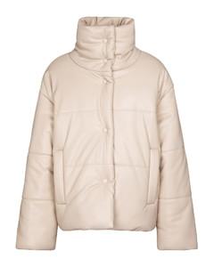 Hide人造皮革填充夹克