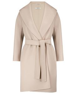 Messi belted virgin wool coat