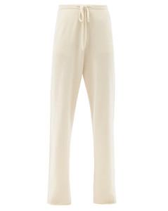 Run drawstring-waist wide-leg trousers