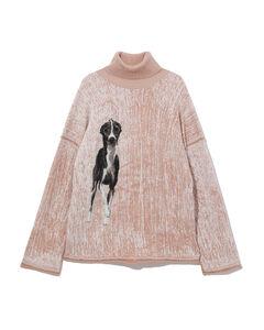 Dog intarsia sweater