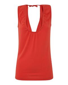 raw edge denim mini skirt