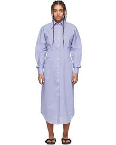 藍色Danete襯衫連衣裙