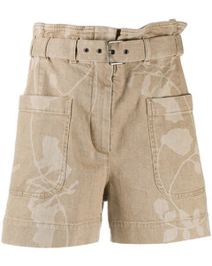 Button-Embellished Sweatpants