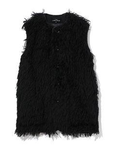 Frayed vest coat