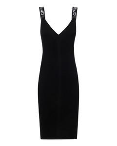 Diagonal print dress