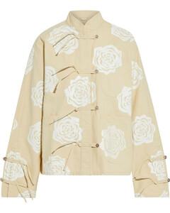 Woman Floral-print Cotton-canvas Jacket