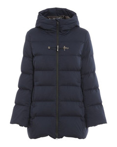 Contrast-Collar Blouson Jacket