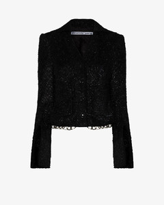 chain-trimmed fitted jacket