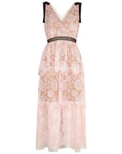 Starlet Rose sequin-embellished lace midi dress