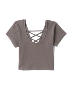 Dress with metallized effect