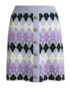 Argyle Jacquard Mini Skirt