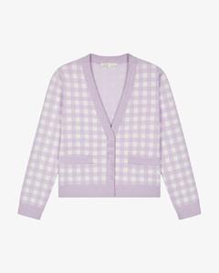 【周锡京同款】Checked jacquard knit cardigan