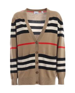 8016169beige Women's Beige Wool Cardigan