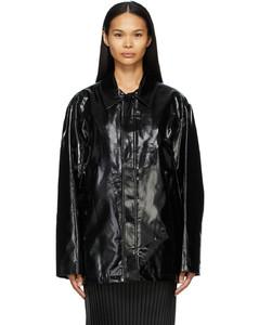 黑色徽标夹克