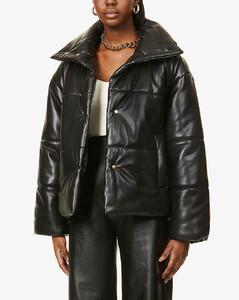 Hide vegan faux-leather puffer jacket