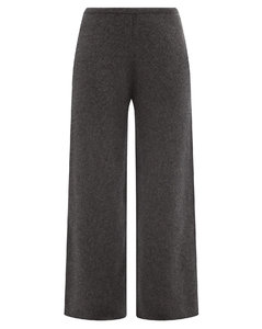 Wide-leg knitted cashmere trousers