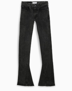 Grey flared skinny jeans