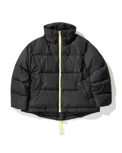 Zip detail down jacket