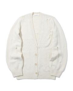 Distressed cardigan