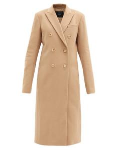 Virgin wool-blend double-breasted coat
