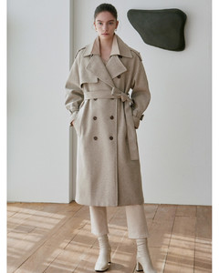 SOFT WOOL DOUBLE TRENCH COAT