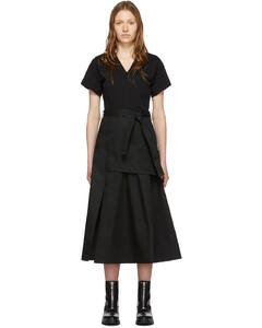 黑色軍風T恤連衣裙