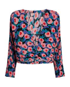 Floral Botanical Pleats Jacket
