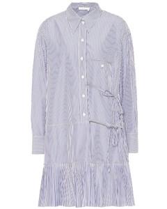 條紋棉質襯衫裙