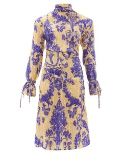 Deera floral-print silk-blend dress
