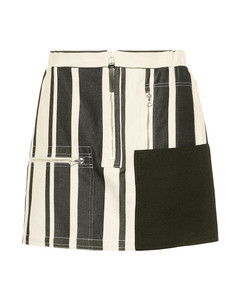 Hilaria cotton and linen miniskirt