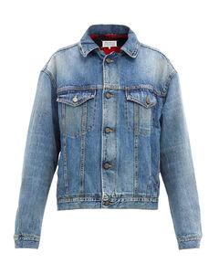 Faded-denim jacket