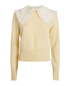 Wool Embroidered-Collar Sweater