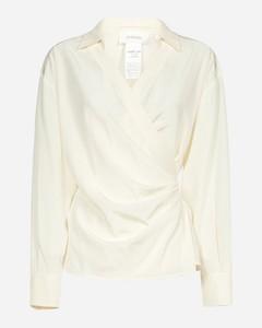 Cachi silk wrap shirt
