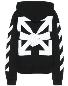 Logo cotton-jersey hoodie