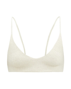 Valensole V-neck rib-knitted bra top