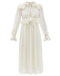 Mytheresa发售 — 印花羊毛中长连衣裙