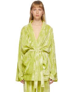 黄色Pyjama丝绒夹克