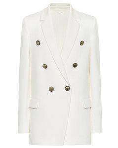 棉质混纺双排扣西装式外套