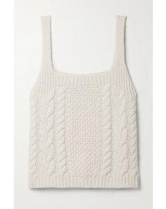 Solange Cable-knit Cashmere Tank