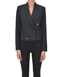 Cropped double-breasted blazer