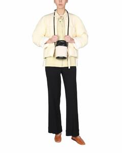 皮革高腰迷你半身裙