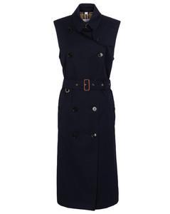棉质风衣式中长连衣裙