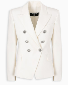 White/silver six buttons jacket