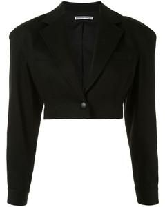 单排扣短款西装夹克