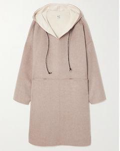 羊毛羊绒混纺连帽外套