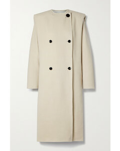 Egelton Double-breasted Wool-blend Coat