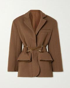 Soco Belted Wool-gabardine Blazer